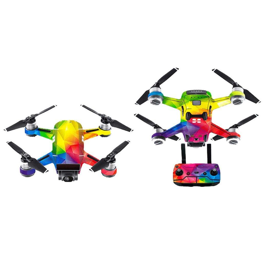 MMLC Wasserdichte Aufkleber Skins Wrap Aufkleber Body Protector für DJI Spark Mini Drone (a) MMLC@