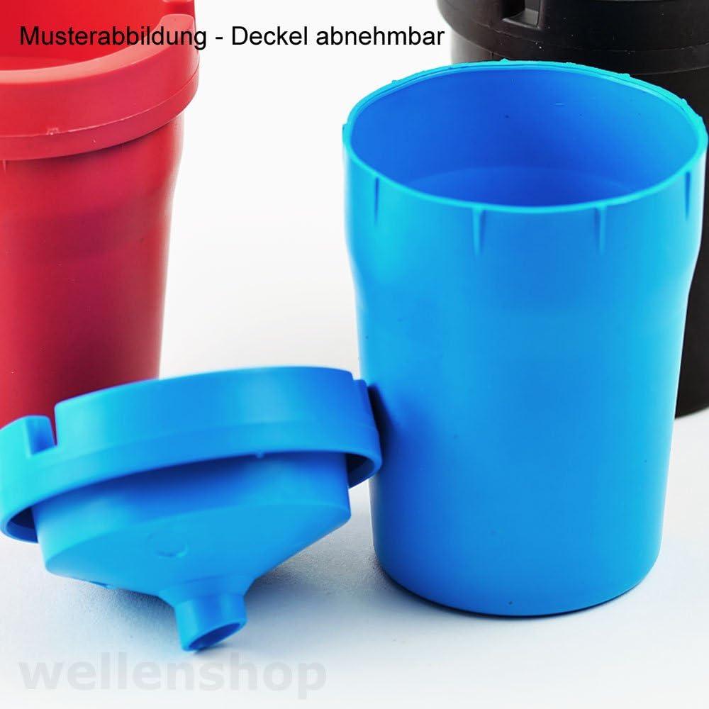 Aschenbecher Kunststoff mit Deckel und Glutt/öter passend f/ür Getr/änkehalter KFZ Boot