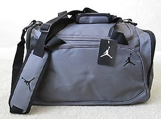 Nike Jordan Mens Basketball Gym Duffel Duffle Bag Gray Grey Style 8A1215 783