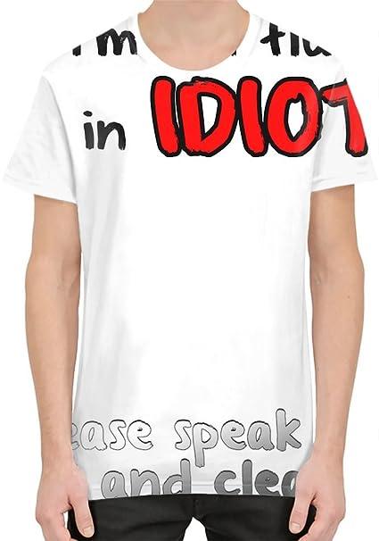 Im Not Fluent In Idiot Camiseta sublimada Small