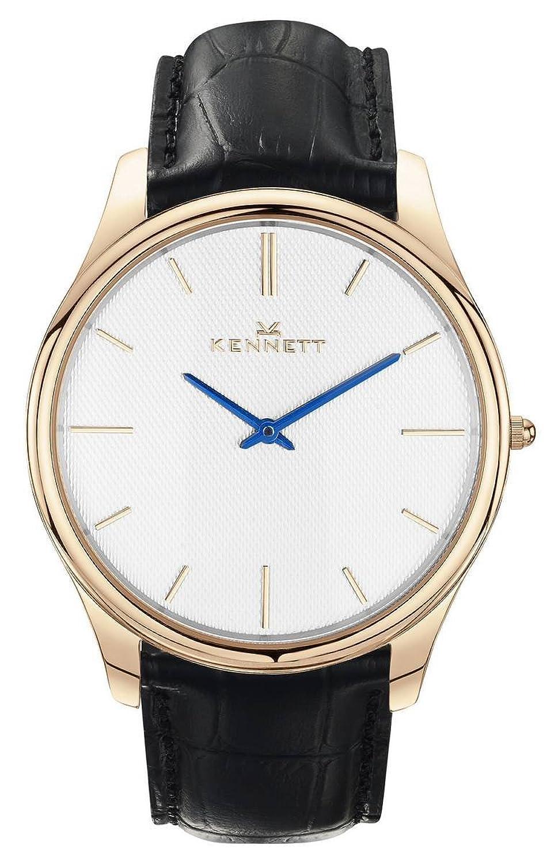 Weiß-Rose Gold-Schwarz Kensington Herren-Armbanduhr von Kennett (