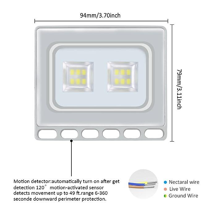 10W LED Blanco frío IP67 impermeable Foco Proyector Reflector de la Lámpara LED Seguridad Luz Brillante luz de Inundación al aire Libre 220V Para el Jardín, ...