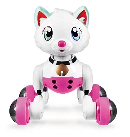 Robot Cat Toy >> Amazon Com Hi Tech Wireless Interactive Robot Cat Cute Smart Kitty
