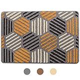 Color&Geometry Doormat, Outdoor Indoor Waterproof, Non Slip Washable Quickly Absorb Moisture and Resist Dirt Rugs