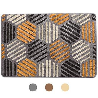 Doormat, Outdoor Indoor Waterproof, Non Slip Washable Quickly Absorb Moisture and Resist Dirt Rugs