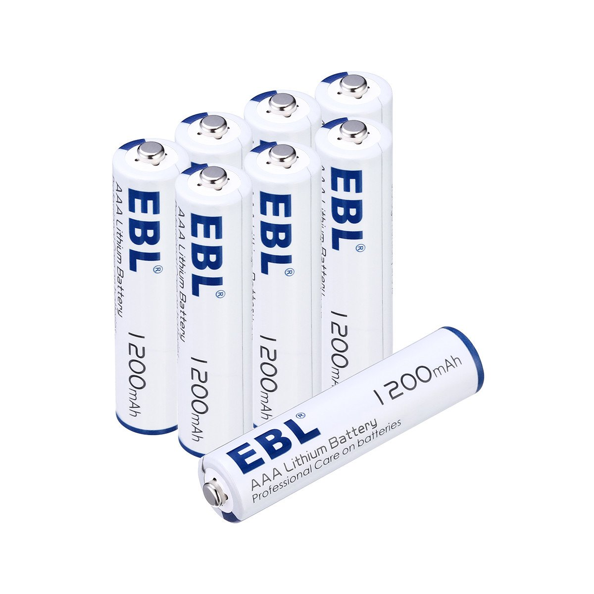 EBL 8pcs 1.5V AAA Batteries Lithium Batteries, New Technology Lighter and Last Longer AAA Lithium Batteries