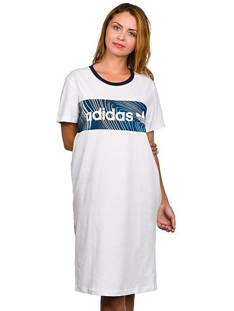 Vestido adidas – Bg Bf Tee blanco/azul talla: 34 S (Small)