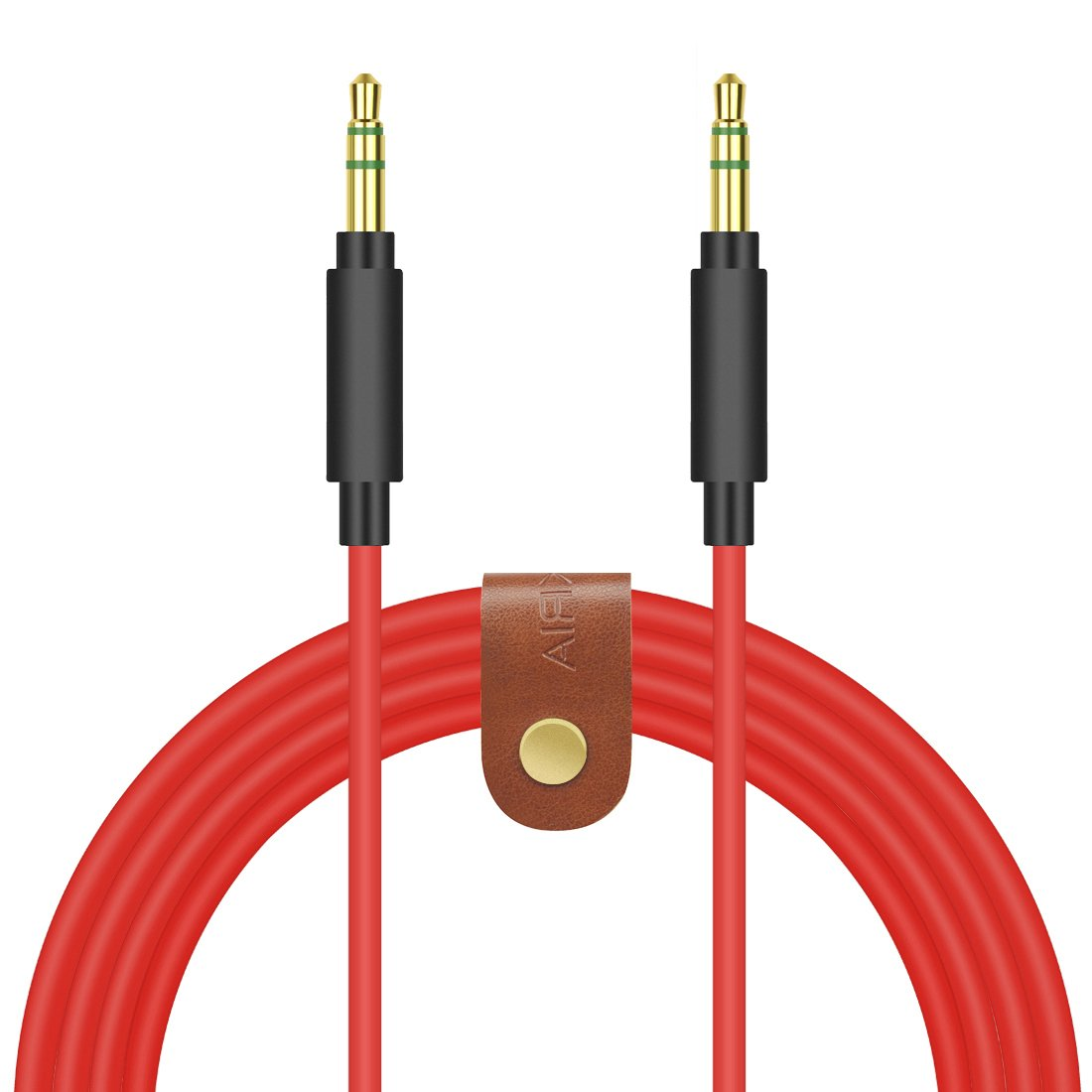 Geekria QucikFit Upgrade Cable for Sony MDR-1000X, MDR-100AAP, MDR-100ABN, MDR-XB950BT, XB650BT, XB750BT, MDR-1A and more / Tangle-Free Premium Headphone Replacement Audio Cord (3.5mm,Red 5ft) EJX29-35