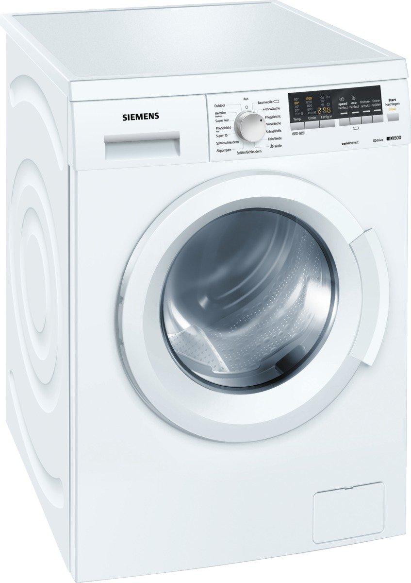 Siemens WM14Q442 - Lavadora (Independiente, Color blanco, Frente ...