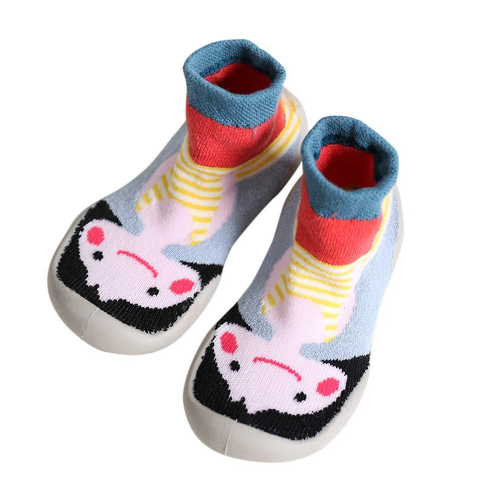 ProperLI Chaussettes Anti-dérapantes pour enfants antidérapante en caoutchouc Motif Imprimé en coton peluche chaleur épaissir