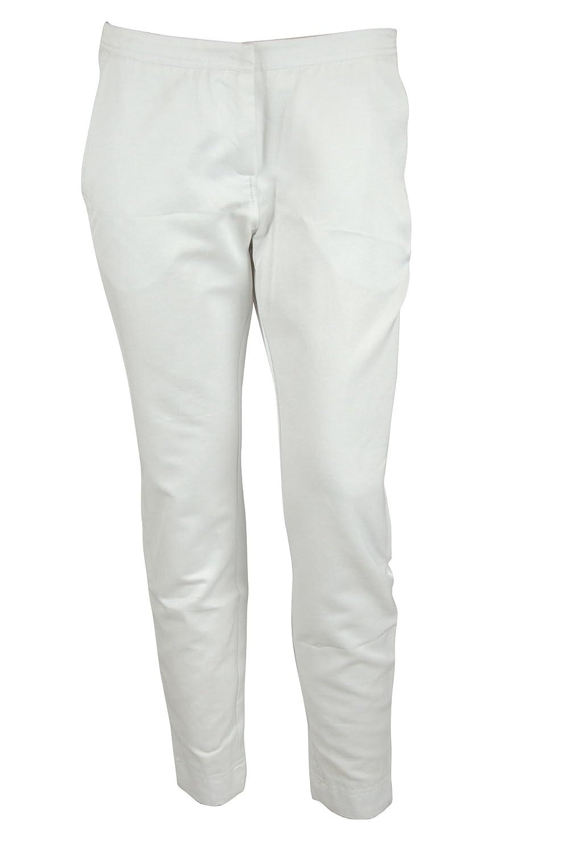 Yoana Baraschi Womens White Nite Back Slit Crop Ankle Pants