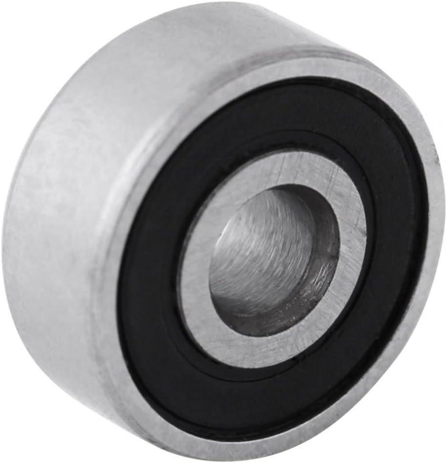 Vaorwne 10pcs 628RS 8mmx24mmx8mm Double Sealed Miniature Deep Ball Bearing
