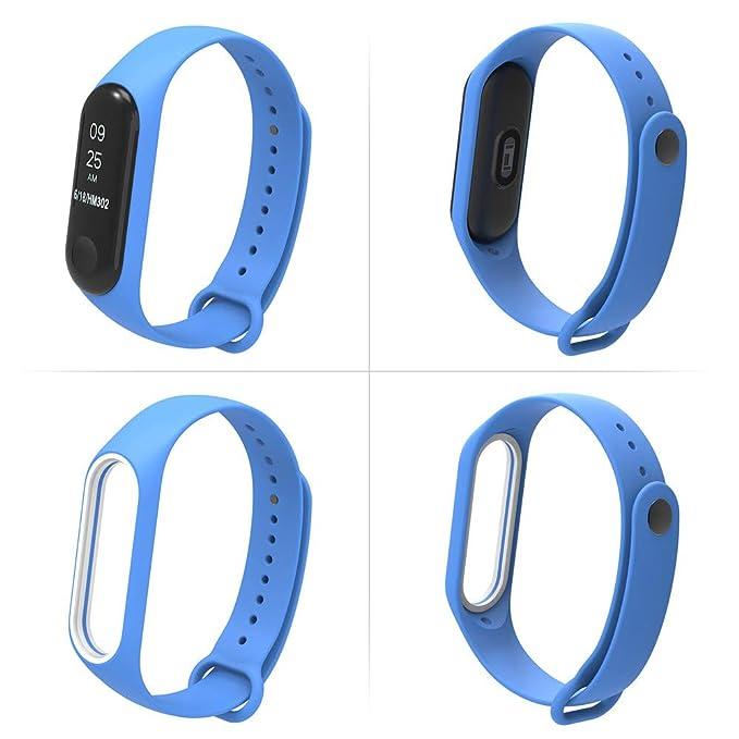 ... Pulsera del Deporte del reemplazo Suave del silicón de TPE Elegante Reemplazo de Bandas para XiaoMi 3 (12 Colores Compuesto) (Café): Amazon.es: Relojes