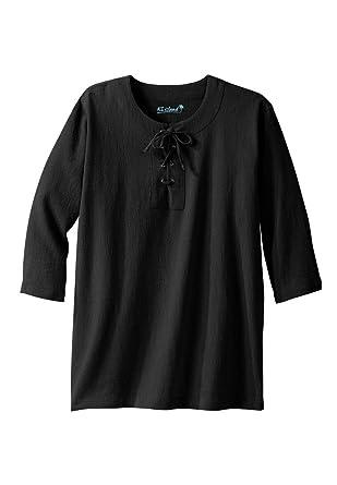 b257e742eeae9 KingSize Men s Big   Tall Gauze Lace-Up Shirt at Amazon Men s Clothing  store