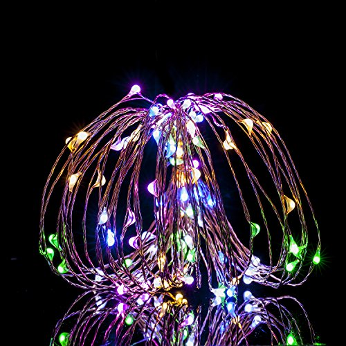 Color Changing String Lights With Remote : Led Dimmable Multi-Color String Lights 100LEDs 33ft Copper Wire Lights with Remote Control ...