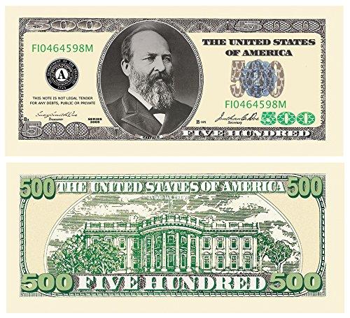 Set of 10 Bills-Five Hundred Dollar - 500 Dollar Gift