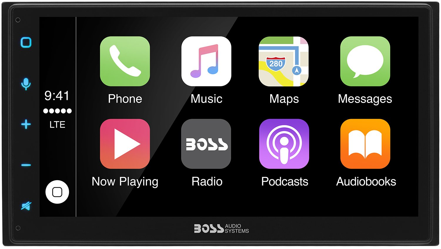 Boss Audio Bvcp9675a Double Din Apple Carplay Android 1761 Radio Wiring Harness For Toyota 87up Power 4 Speaker Shopstak Auto Bluetooth 675 Capacitive Touchscreen Mech Less No Cd Dvd Am Fm Receiver