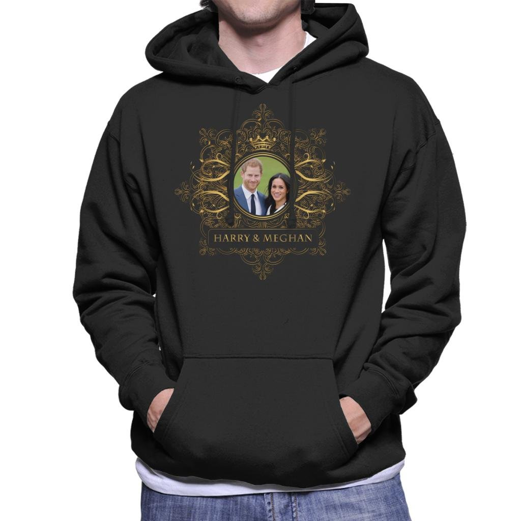 Coto7 Golden Star Frame Harry and Meghan Royal Wedding Men's Hooded Sweatshirt