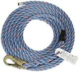 Safety Works 10096516 Rope Polysteel with Snaphook, 50-Foot