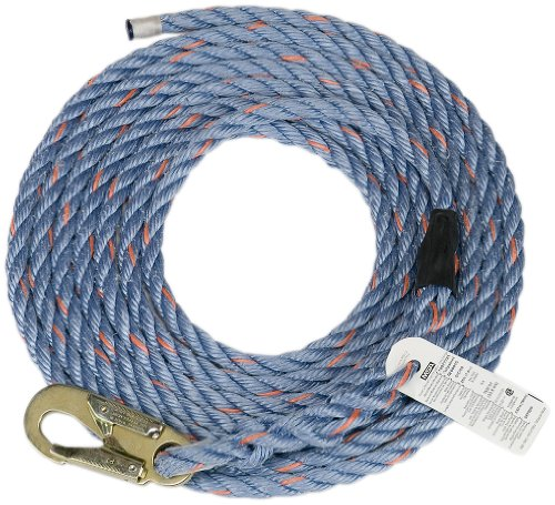 - Safety Works 10096516 Rope Polysteel with Snaphook, 50-Foot