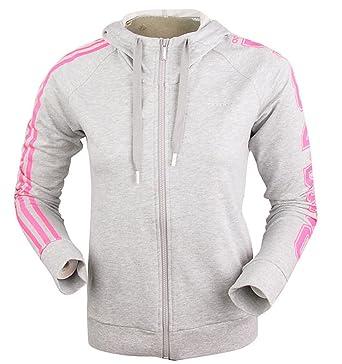 71ab4a9505eef Adidas Essentials 3-Stripes Climalite Haut de surv ecirc tement  agrave   capuche zipp eacute