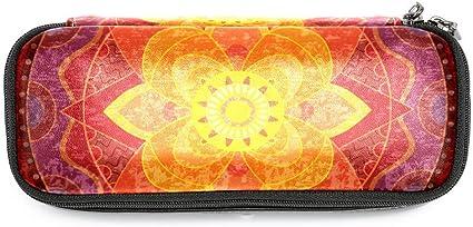 TIZORAX Hippie Mandala Yoga Psychedelic - Estuche para lápices y lápices para estudiantes, papelería, para la escuela y la oficina: Amazon.es: Oficina y papelería