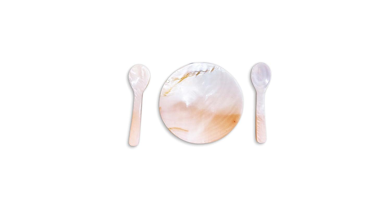 2 Sets Free Plate Caviar Spoon 2.5 Inch +