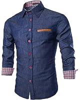 West See Herren Männer Freizeit Hemd Langarm Shirts Slim Fit Business Bügelleicht