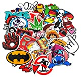 KONLOY Sticker Pack 100-Pcs Sticker Decals Vinyls for Laptop,Kids,Cars,Motorcycle,Bicycle,Skateboard Luggage,Bumper Stickers Hippie Decals bomb Waterproof (100Pcs)