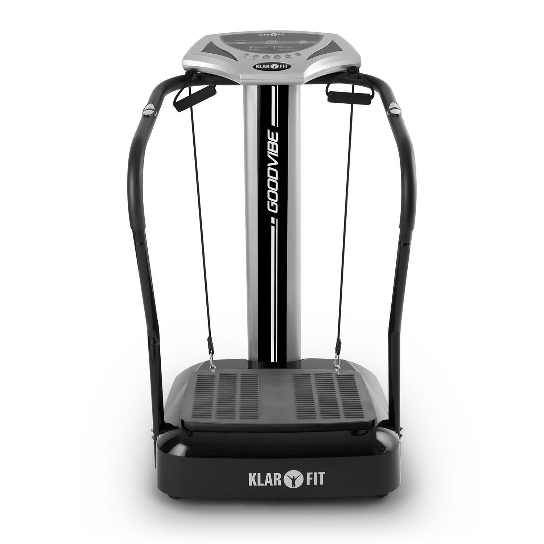 Plataforma vibratoria Klarfit Goodvibe, dispositivo fitness, alterna los lados, 100 niveles de velocidad, pulsómetro, trainingscomputer, pantalla ...