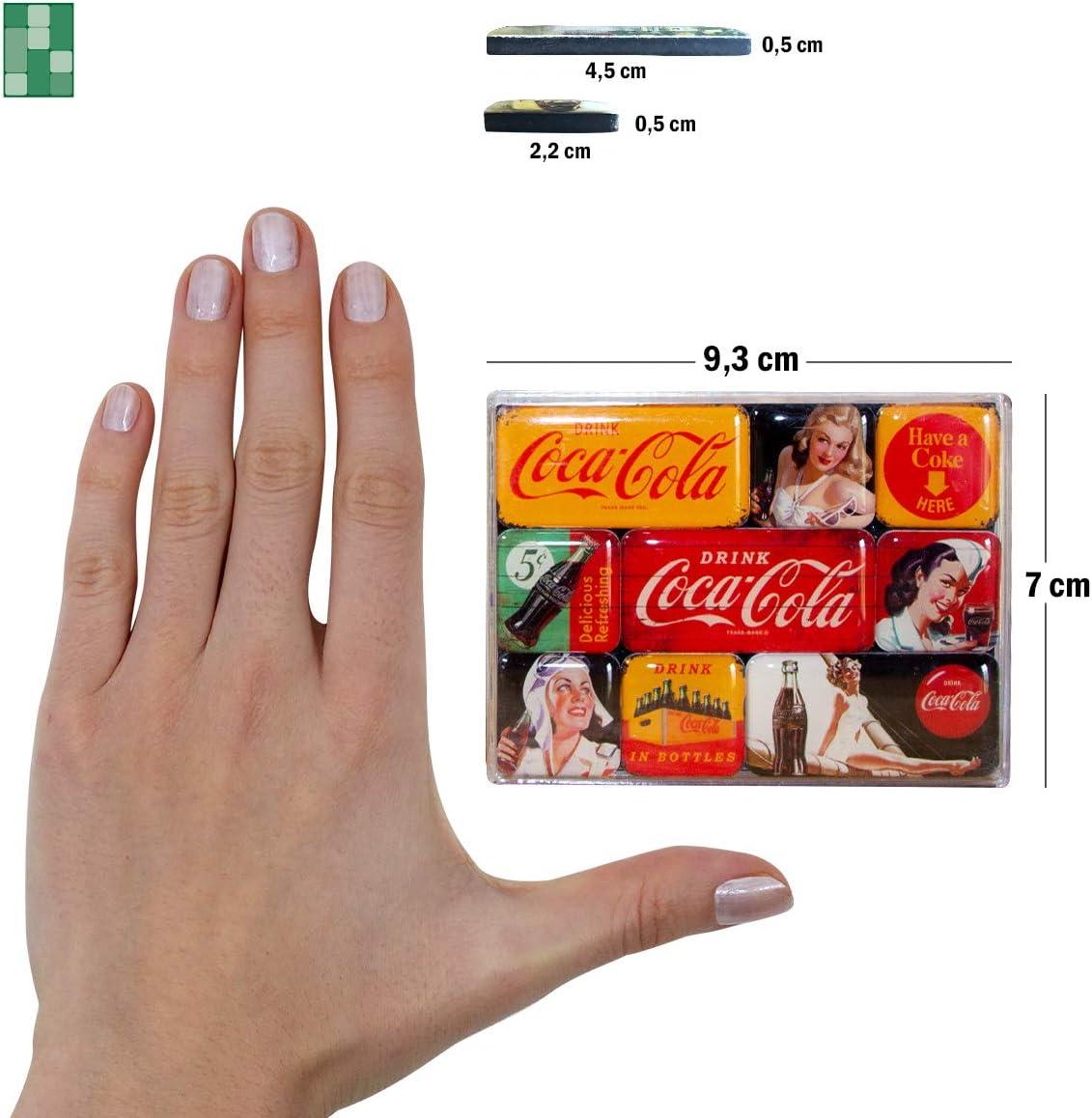 Coca Cola Gelb Set Mit 9 Mini Kühlschrankmagnete Na
