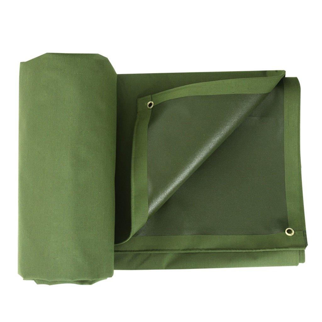 Zelt Zubehör Plane Outdoor Plane Schatten wasserdicht Plane Outdoor Heavy Duty Plane Dach Abdeckung Garten Regen Abdeckung Plane Blatt - UV geschützt, 700g   m², Dicke 0.8mm, Multi-Größe (grün) Idee für Camping Wan 70de74