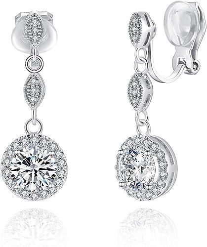 Circular Shaped Ear Pins Zircon Eardrop Crystal Earrings Zircon Women Jewelry