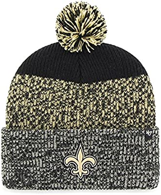 ca42658139bee1 Amazon.com : '47 New Orleans Saints Beanie Static Cuff Knit Hat : Sports &  Outdoors. '