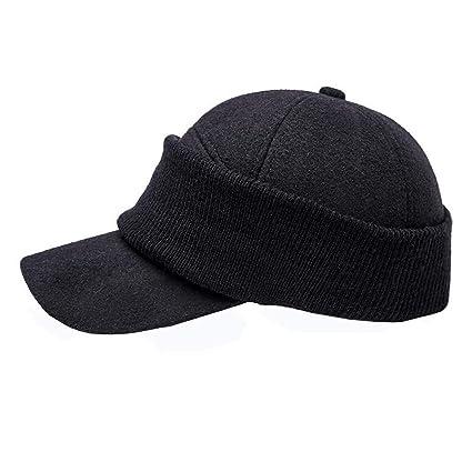 54690c91346 Vovomay Men s Winter Baseball Cap Thickening Dual Purpose Thermal  Protection Face Baseball Cap Leisure Cap (