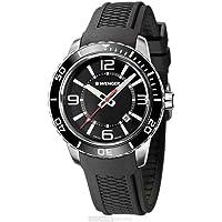 Wenger 'Roadster' Reloj casual de cuarzo suizo de acero inoxidable y silicona para hombre