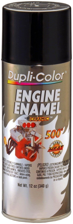 Dupli-Color DE1613 Gloss Black Engine Enamel with Ceramic 12 oz. Aerosol (6 PACK)