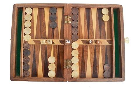 Amazon Com Shri Surya Handicrafts Backgammon Game Set With Wood