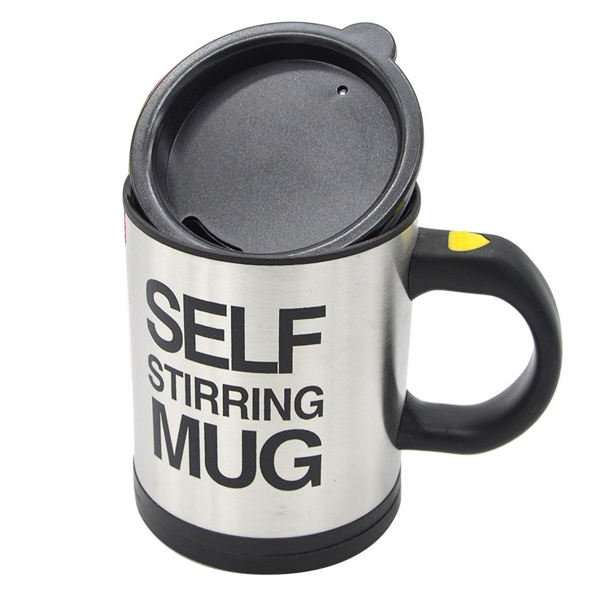 Self Stirring MugコーヒーブラックカップステンレススチールAutomatic Self Mixing ブラック B0797RQK68 ブラック