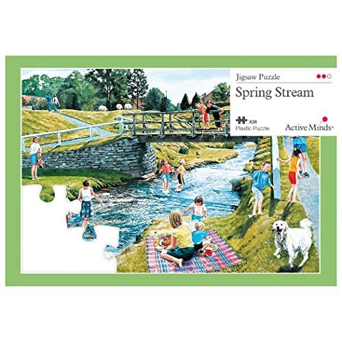Active Minds 35 Piece Spring Stream Jigsaw Puzzle | Specialist Alzheimer's/Dementia Activities & Games by Active Minds