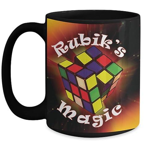 Amazon.com: cubeta de Rubik Taza (Negro) \ \ Magic de Rubik ...