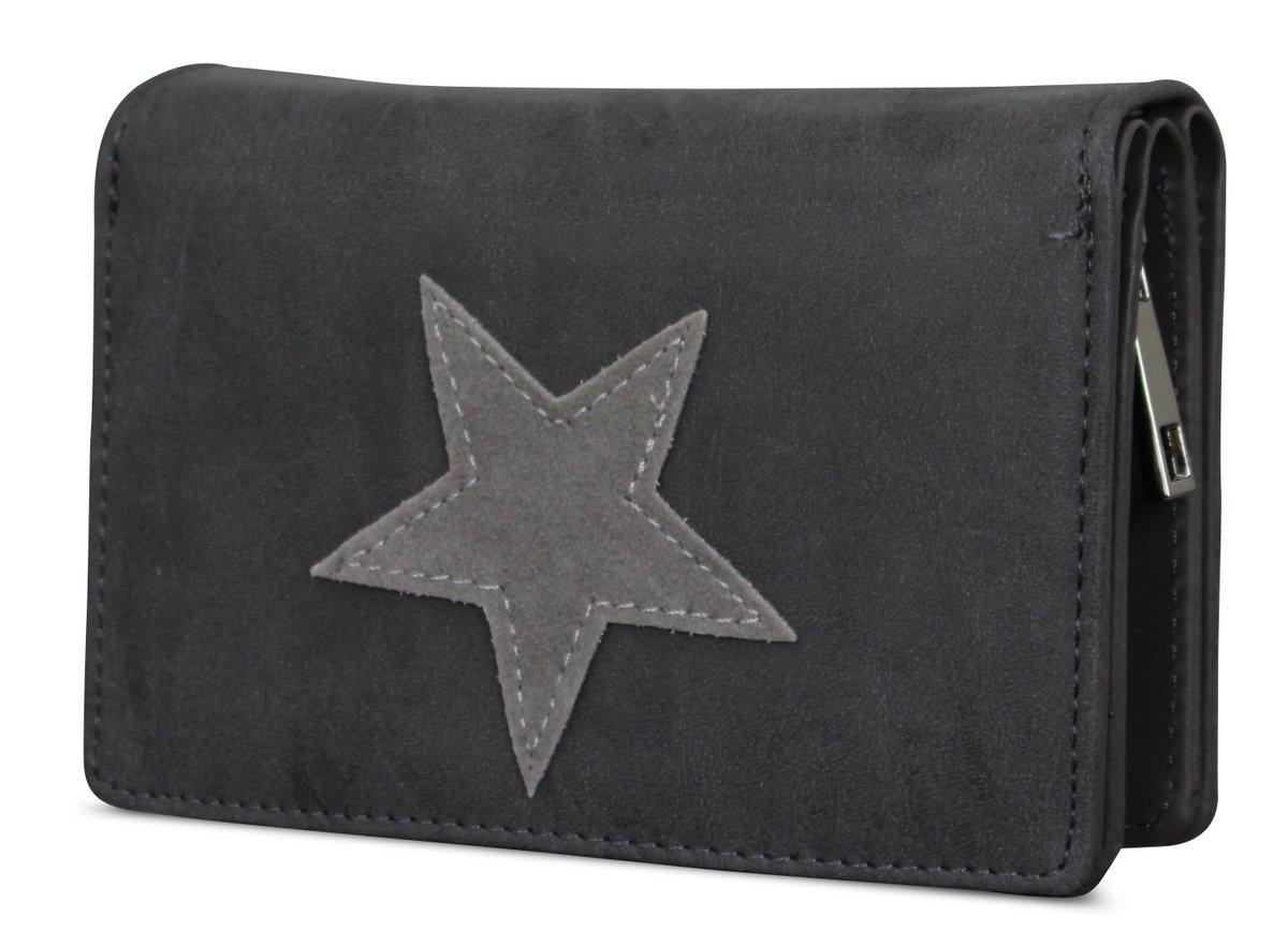 Damen Luxus Stern Geldb/örse Geldbeutel Brieftasche Portemonnaie Damenb/örse B/örse Betongrau