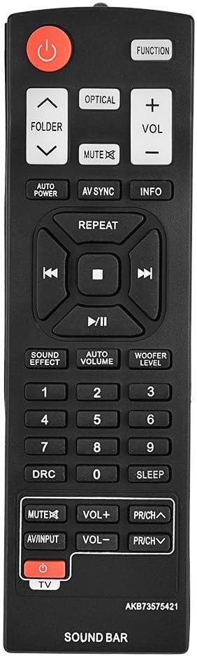 nologo Mando a Distancia de Repuesto Controlador inalámbrico Universal Compatible con LG Soundbar