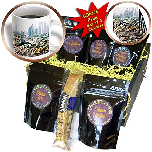 - Danita Delimont - UAE - View of city metro line and skyscrapers, Dubai, United Arab Emirates. - Coffee Gift Baskets - Coffee Gift Basket (cgb_208586_1)
