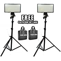 Digitek 400 LED Video Light Kit (2) with Battery and Charger Light Stand for YouTube Studio Photography, Video Shooting