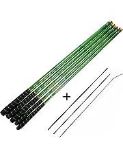 Goture Tiges de pêche télescopiques en fibre de carbone Tenkara Rod Carpe légère de pêche 10FT 12FT 15FT 18FT 21FT 24FT + 3 Segments supérieurs