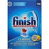 4 x FINISH PK110 POWERBALL DISHWASHING TABLETS CLASSIC LEMON SPARKLE
