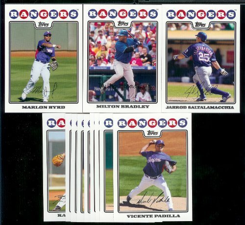 Texas Rangers Baseball Cards - 6 Years Of Topps Team Sets 2004,2005,2006,2007, 2008 & 2009 - Includes ALL regular issue Topps Cards For 6 Years - Includes Stars, Rookie Cards & More! ()