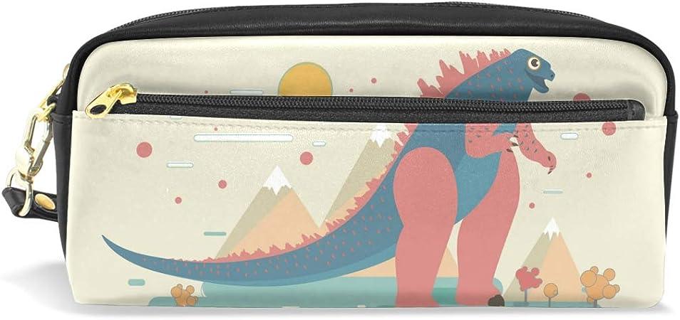 FANTAZIO Estuche para lápices Happy Godzilla en bolsa de maquillaje de campo abierto: Amazon.es: Oficina y papelería