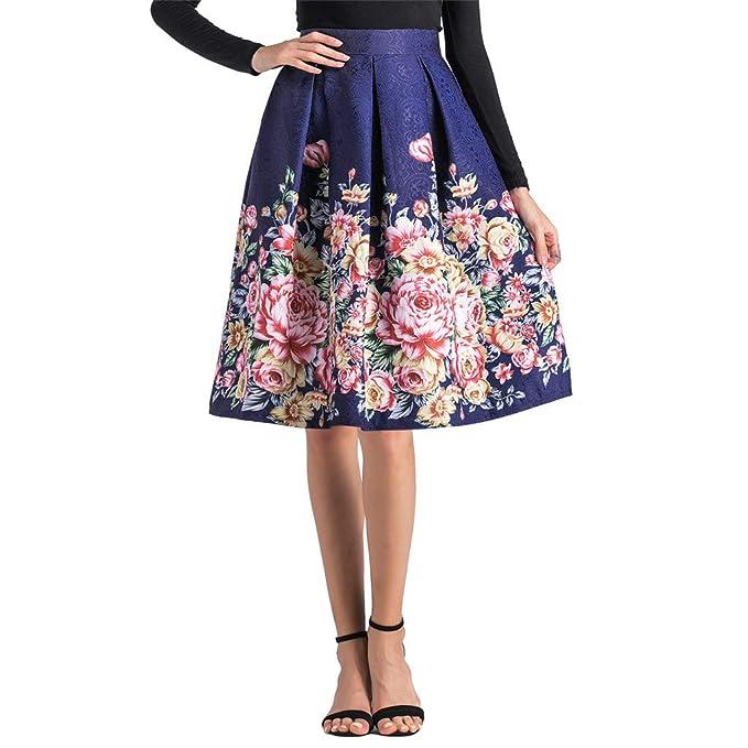 Falda Plisada Faldas Mujer Cortas Falda Cintura Alta Falda Estampada ...